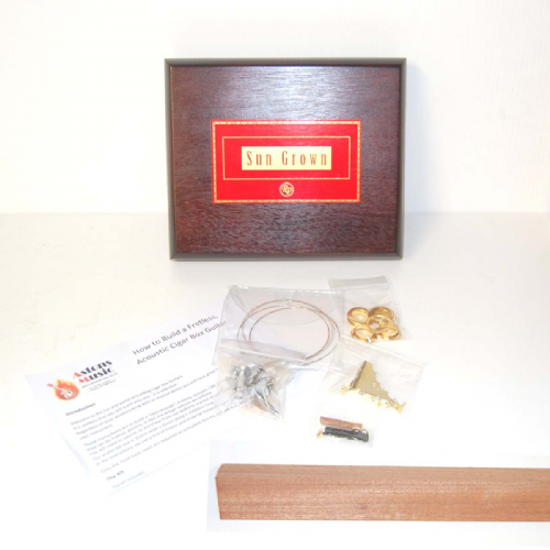 Cigar Box Guitar Kit 3 string Sun Grown Box, Parts and NECK